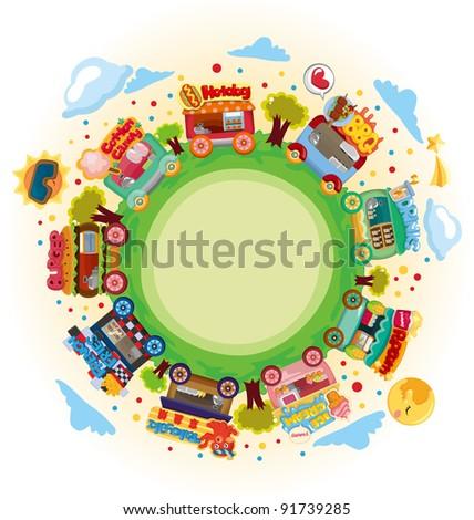 shop market around world - stock vector