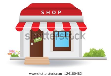 Shop. Vector illustration - stock vector