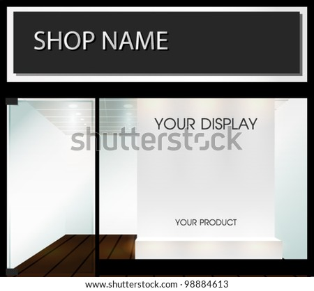 Shop  with empty display - stock vector