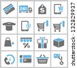 shopping and marketing concept icons set - stock vector