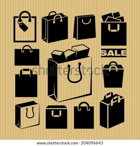 Shopping bag  - stock vector