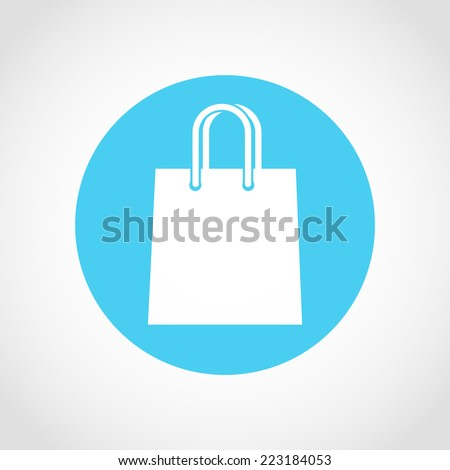 Shopping bag Icon Isolated on White Background - stock vector