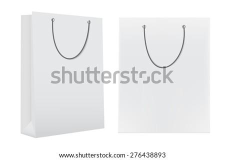 Shopping Bag Template for Advertising and Branding Vector Illustration EPS10 - stock vector