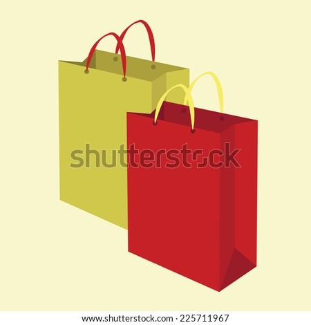 shopping bags. vector illustration - stock vector