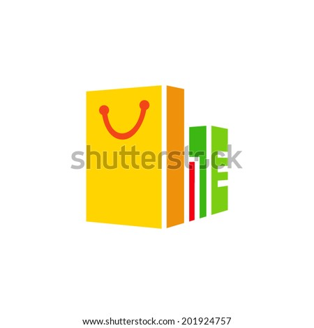 Shopping Branding Identity Corporate vector logo design template Isolated on a white background - stock vector