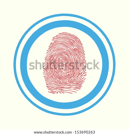 Shopping by finger Touch, ID Fingerprint scan Access icon. Touch screen - stock vector