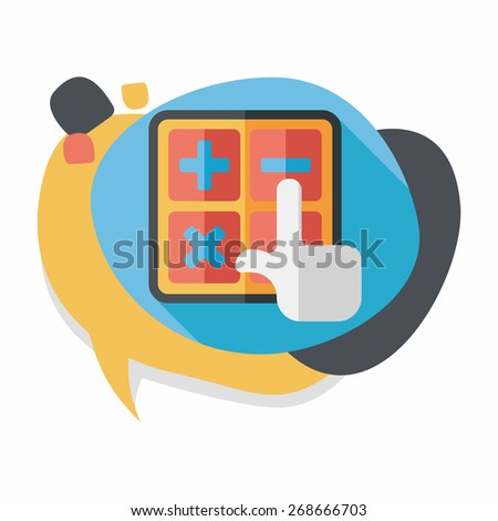 shopping calculator flat icon with long shadow,eps10 - stock vector