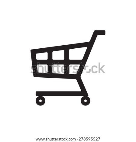 Shopping Cart icon or sign isolated on white background. Vector ilustration. - stock vector