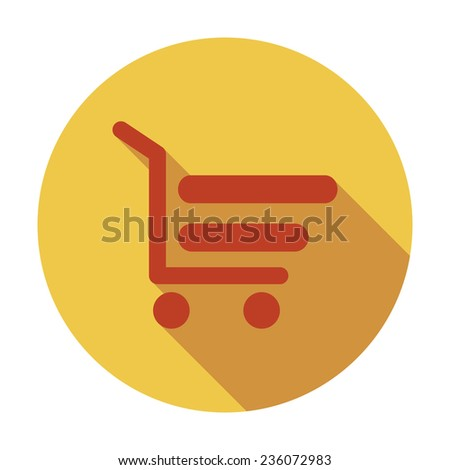 Shopping cart. Single flat color icon. Vector illustration. - stock vector