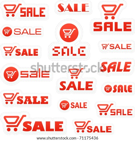 Shopping cart. Vector great collection. - stock vector