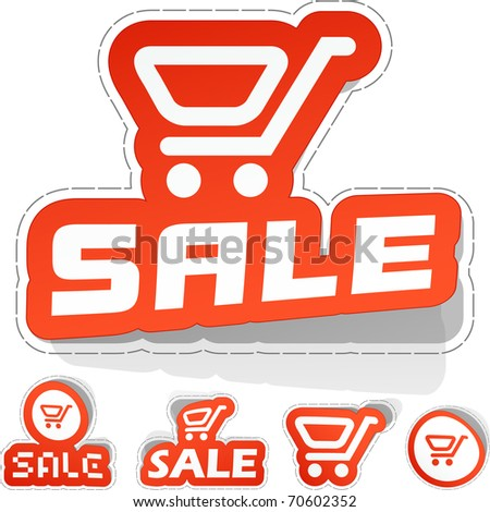 Shopping cart. Vector illustration. - stock vector