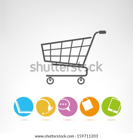 shopping, e commerce - stock vector