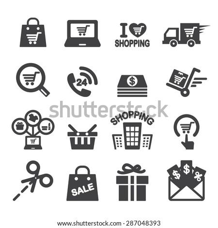 shopping icon - stock vector