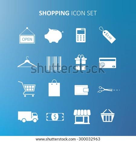Shopping Icon Set - stock vector