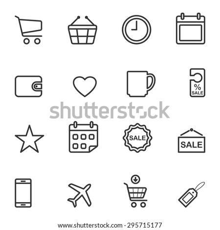 Shopping Icon,Vector EPS10. - stock vector