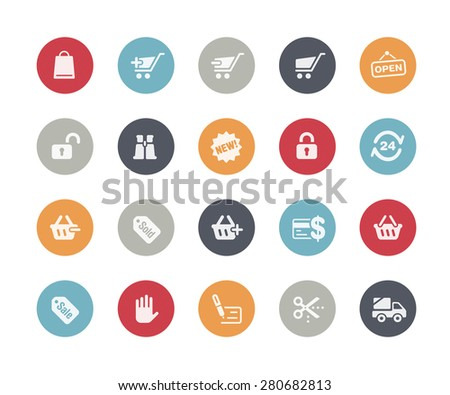 Shopping Icons // Classics Series - stock vector