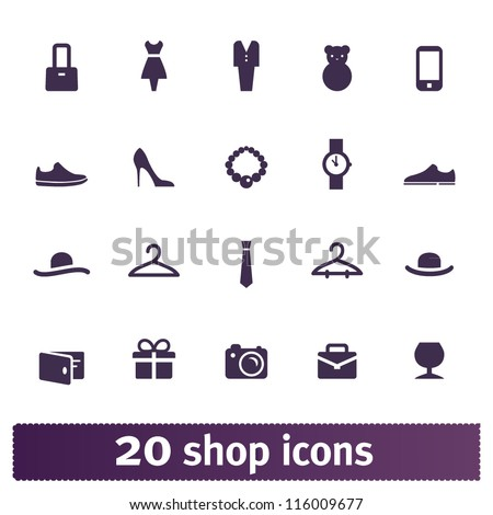 Shopping icons: store vector set - stock vector