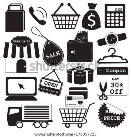 Shopping Icons Vector Collection - stock vector