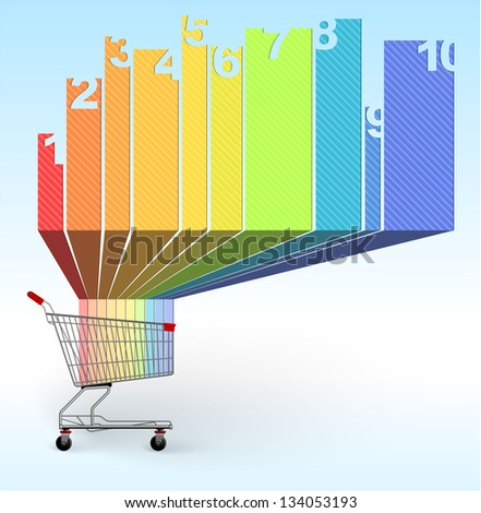 Shopping infographic chart template. Vector. - stock vector