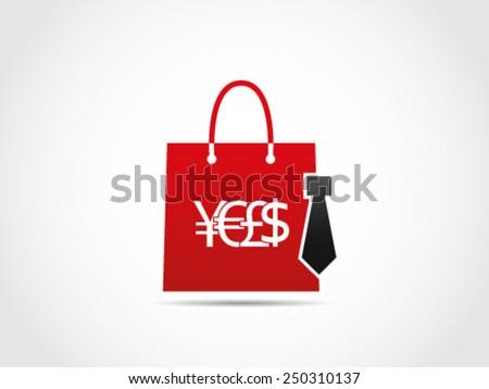 Shopping Office Item - stock vector
