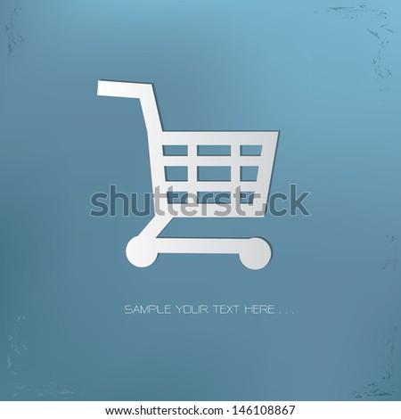 Shopping on brain symbol,vector - stock vector