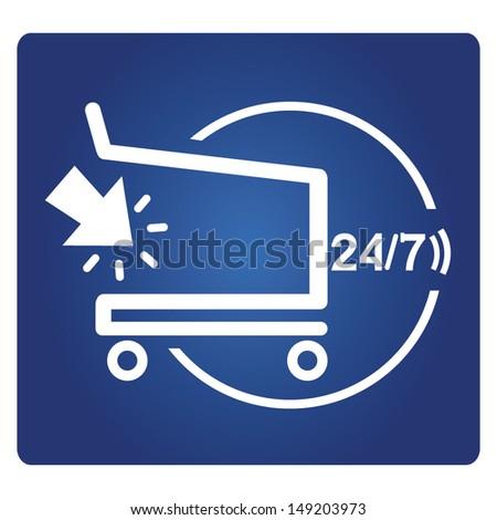 shopping service, e commerce service - stock vector
