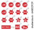 shopping tag - stock vector