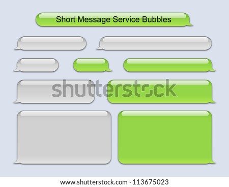 Short Message Service Bubbles - stock vector