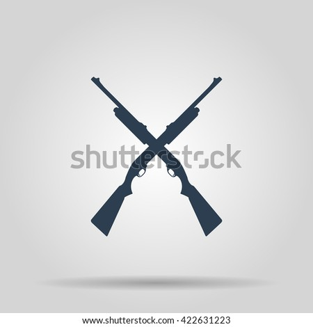 Shotgun icon. Vector concept illustration for design. - stock vector