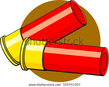 shotgun shells - stock vector