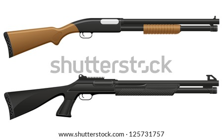 shotgun vector illustration isolated on white background - stock vector