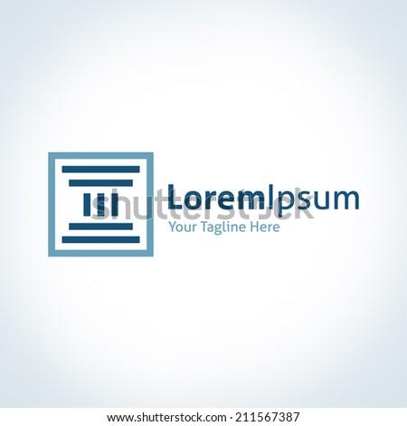 Show Your strength Greek column foundation vector logo logotype icon - stock vector