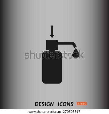 Shower Gel, Liquid Soap, Lotion, Cream, Shampoo, Bath Foam. icon. vector design - stock vector