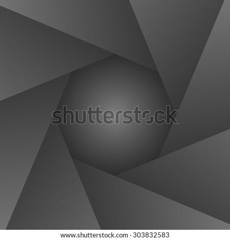 shutter camera objective frame. Vector illustration. - stock vector