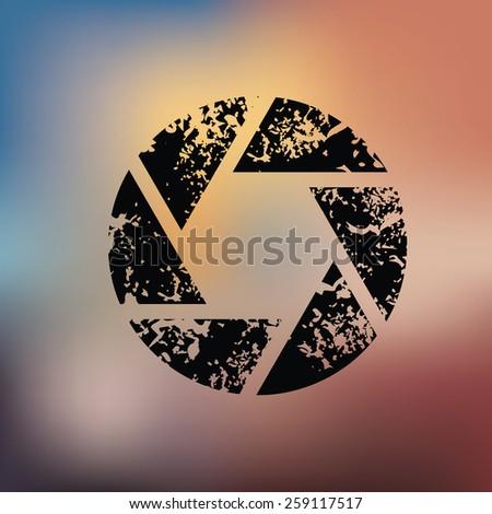 Shutter design on blur background,grunge vector - stock vector
