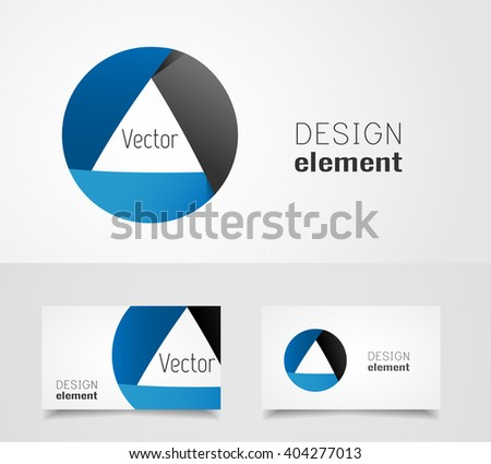 Shutter logo design template - stock vector