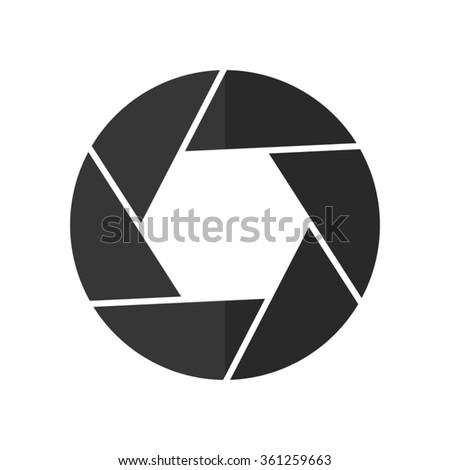 Shutter -  vector icon - stock vector