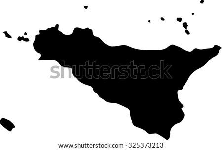 Sicily vector map isolated on white background. - stock vector