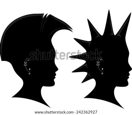 Stock Images similar to ID 144101068 - mohawk villain ...
