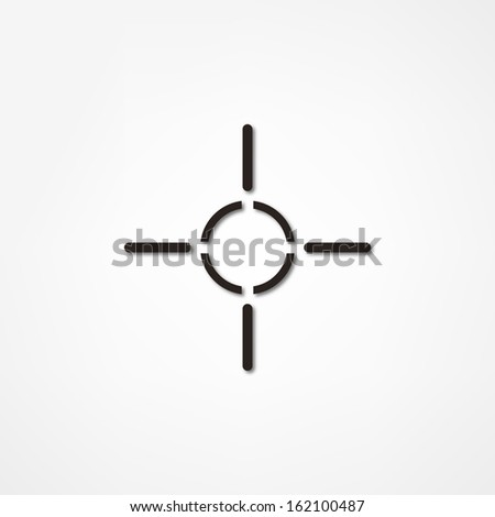 Sight icon - stock vector