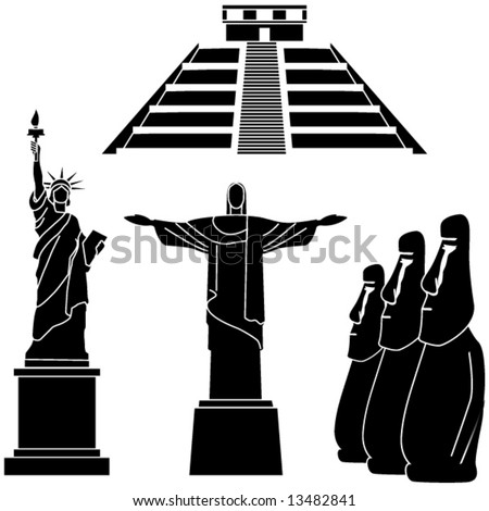 sights of the world series - America - stock vector