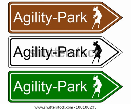 Sign agility park, for dogs - stock vector