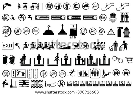 Sign at Public Area   - stock vector