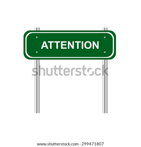 Sign attention - stock vector