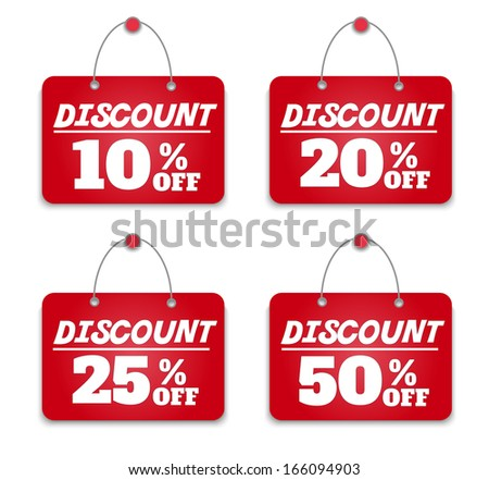 Sign board discount - stock vector