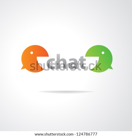 Sign - chat. Vector template for design. - stock vector