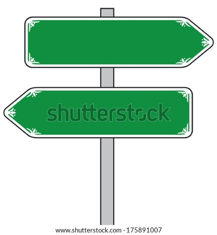 sign direction (street sign, road sign) - stock vector