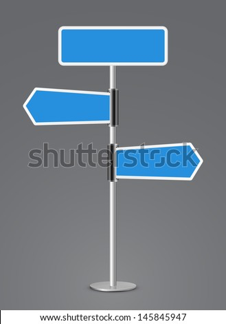 sign direction vector design 3d - stock vector