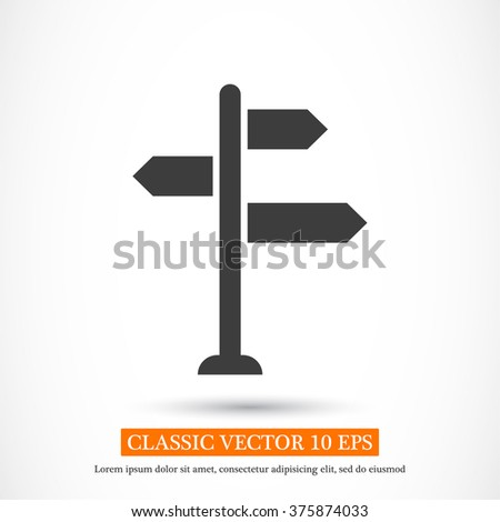 Sign directs icon - stock vector