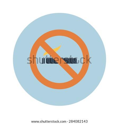Sign, icon smokes smoking, no smoking, sigreta. Vector - stock vector